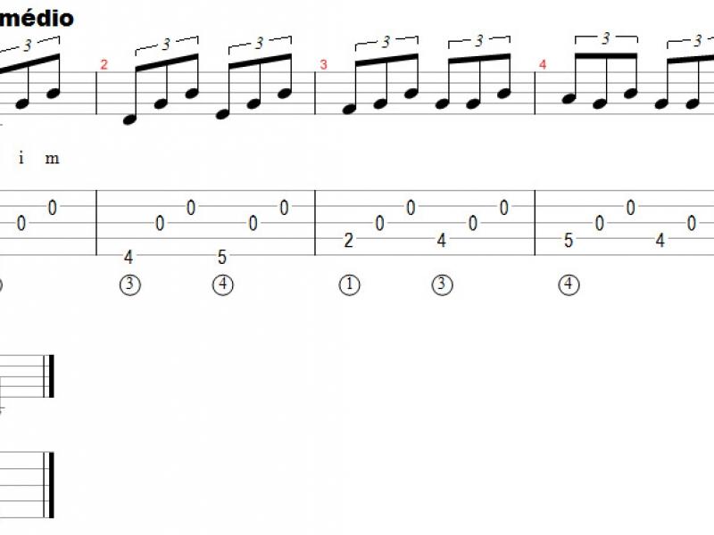 Dedilhados ou arpejos rítmicos